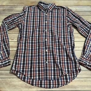 Tommy Hilfiger Plaid Button Down 80s 2ply